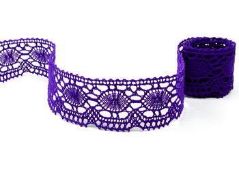 Paličkovaná krajka vzor 75032 purpurová | 30 m - 1