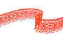 Cotton bobbin lace 75037, width57mm, red - 1/4