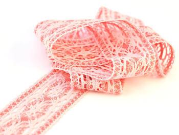 Paličkovaná vsadka 75038 bavlněná, šířka52mm, růžová/starorůžová - 1