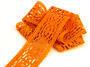 Paličkovaná vsadka 75038 bavlněná, šířka52mm, sytě oranžová - 1/2