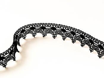 Paličkovaná krajka 75041 bavlněná, šířka40mm, černá - 1