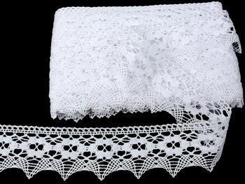 Paličkovaná krajka vzor 75050 bílá | 30 m - 1
