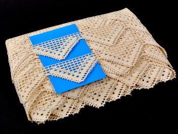 Cotton bobbin lace 75054, width 45mm, ecru