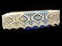 Cotton bobbin lace 75059, width 81 mm, ecru - 1/3