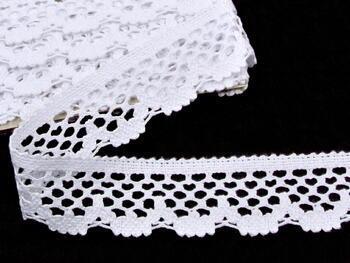 Paličkovaná krajka vzor 75067 bílá | 30 m - 1