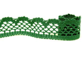 Paličkovaná krajka 75067 bavlněná, šířka47 mm, sv.zelená