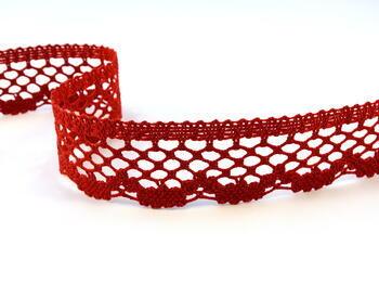 Cotton bobbin lace 75067, width 47 mm, light wine - 1
