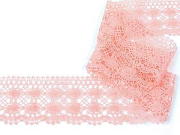 Paličkovaná krajka vzor 75076 světle růžová II.   30 m - 1