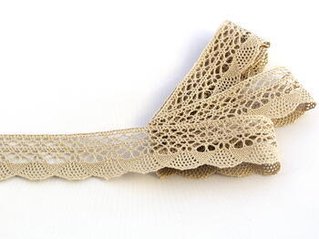 Bobbin lace No. 75077 light linen | 30 m
