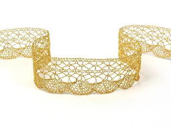 Metalic bobbin lace 75077, width32 mm, Lurex gold - 1