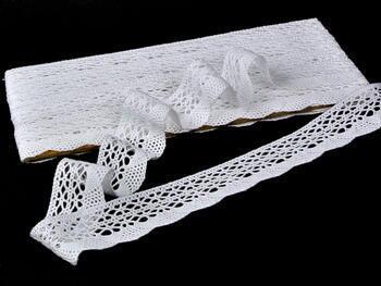 Paličkovaná krajka vzor 75077 bílá | 30 m - 1