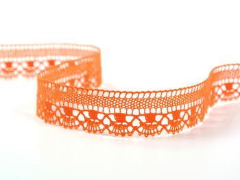 Paličkovaná krajka vzor 75079 sytě oranžová | 30 m - 1