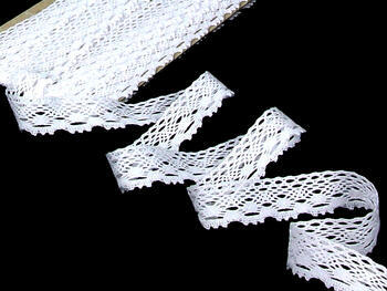 Paličkovaná krajka vzor 75084 bílá | 30 m - 1