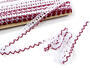 Bobbin lace No. 75087 white/red bilberry | 30 m - 1/4