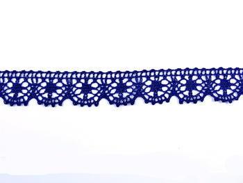 Paličkovaná krajka vzor 75088 tmavě modrá | 30 m - 1