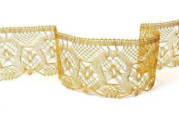 Metalic bobbin lace 75096, width 68 mm, Lurex gold - 1