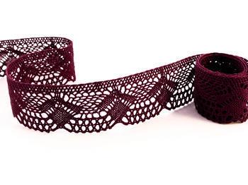 Paličkovaná krajka vzor 75098 fialová | 30 m - 1
