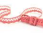 Cotton bobbin lace 75099, width 18 mm, rose - 1/2