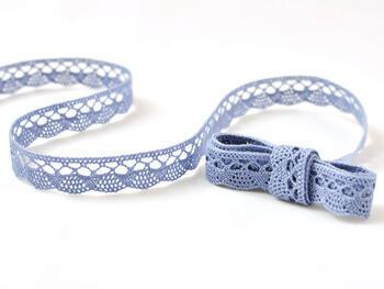 Paličkovaná krajka 75099 bavlněná, šířka18 mm, blank.modrá - 1