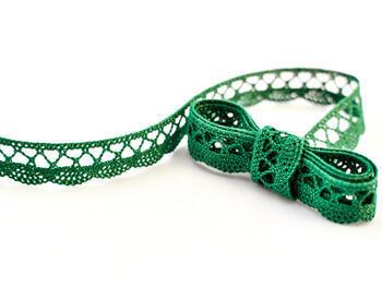 Paličkovaná krajka 75099 bavlněná, šířka18 mm, světle zelená - 1