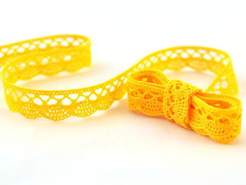 Bobbin lace No. 75428/75099 yellow | 30 m - 1