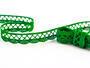 Paličkovaná krajka vzor 75428/75099 trávová zelená | 30 m - 1/3