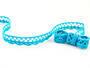 Cotton bobbin lace 75099, width 18 mm, turquoise - 1/2