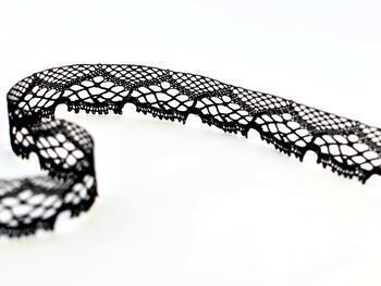 Paličkovaná krajka 75019 bavlněná, šířka31mm, černá