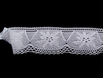 Paličkovaná krajka 75105 bavlněná, šířka46 mm, bílá - 1