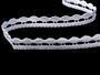 Cotton bobbin lace 75114, width 11 mm, white - 1/4