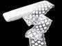 Bobbin lace No. 75130 white | 30 m - 1/3