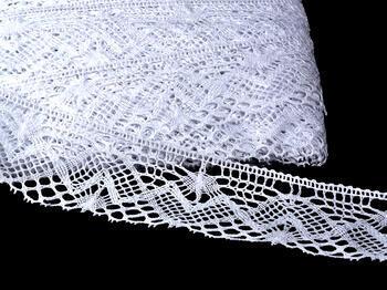 Paličkovaná krajka vzor 75132 bílá | 30 m - 1