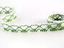 Paličkovaná krajka vzor 75133 bílá/trávová zelená | 30 m - 1/2
