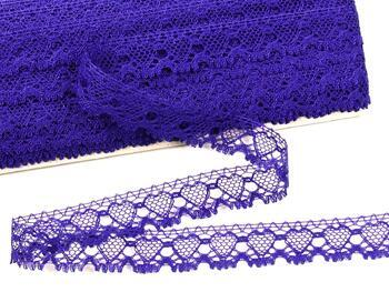 Cotton bobbin lace 75133, width 19 mm, purple - 1
