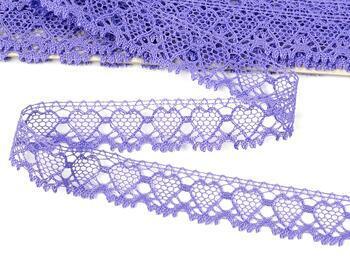 Cotton bobbin lace 75133, width 19 mm, purple/lavender - 1