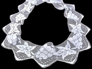 Paličkovaná krajka vzor 75136 bílá | 30 m - 1