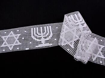 Paličkovaná vsadka vzor 75139 bílá | 30 m - 1
