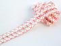 Bobbin lace No. 75169 white/red | 30 m - 1/2