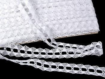 Cotton bobbin lace 75170, width 30 mm, white - 1