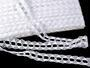 Cotton bobbin lace 75170, width 30 mm, white - 1/4