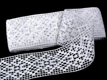 Paličkovaná vsadka vzor 75180 bílá | 30 m - 1