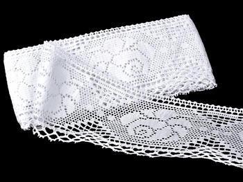 Paličkovaná krajka vzor 75183 bílá | 30 m - 1