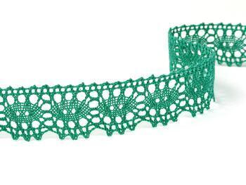 Paličkovaná krajka 75187 bavlněná, šířka32mm, světle zelená - 1