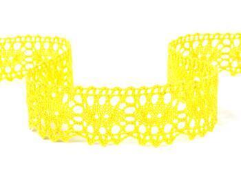 Paličkovaná krajka 75187 bavlněná, šířka32mm, žlutá - 1