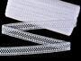 Cotton bobbin lace insert 75205, width27mm, white - 1/4