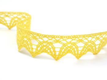 Cotton bobbin lace 75206, width 33 mm, yellow - 1