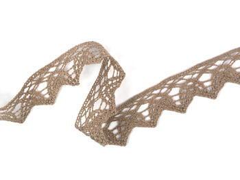 Bobbin lace No. 75206 dark beige | 30 m - 1