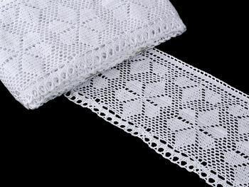 Paličkovaná krajka vzor 75208 bílá | 30 m - 1