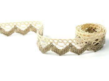 Bobbin lace No. 75220 ecru/light linen   30 m - 1