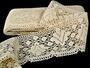 Cotton bobbin lace 75224, width 100 mm, ecru - 1/4